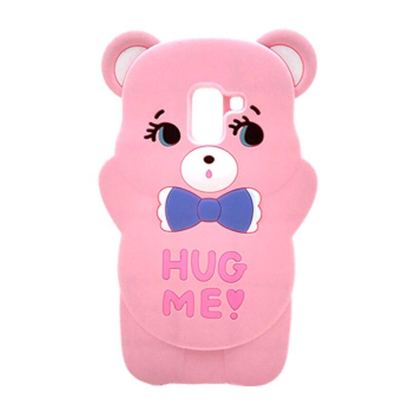 Funda de Stitch de dibujos animados en 3D para Samsung Galaxy J7 2015 J5 2016 J4 Prime J6 Plus J8 2018, funda para teléfono móvil con orejas de abag ME Bear