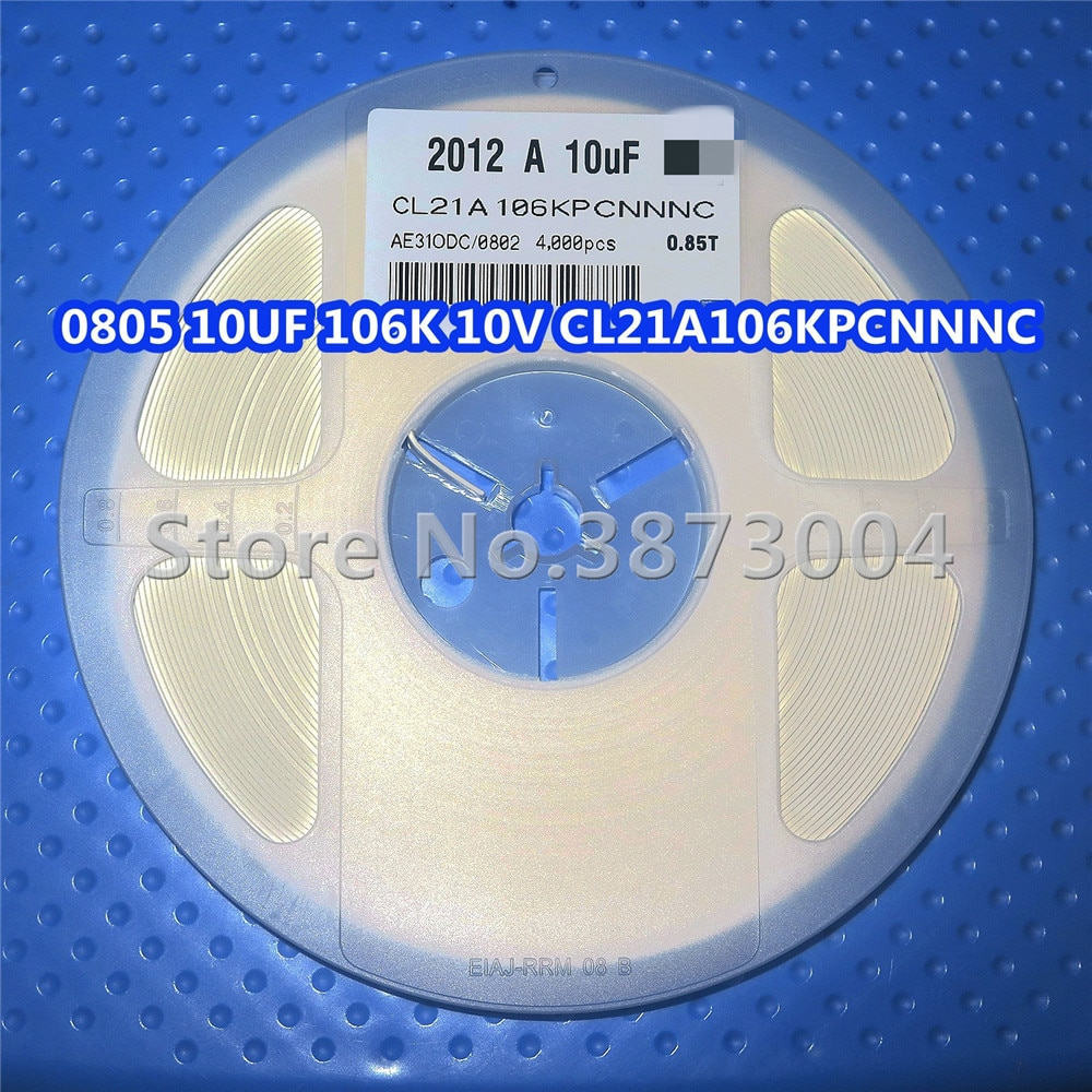 1 carrete 0805 10 UF 106 K 10 V CL21A106KPCNNNC SMD resistencia 4000 piezas/carrete