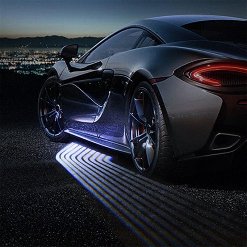 SRXTZM Partol 2 uds coche Ángel alas Bienvenido luz sombra luz del coche de la luz de advertencia de puerta LED lámpara encaja para todos los vehículos