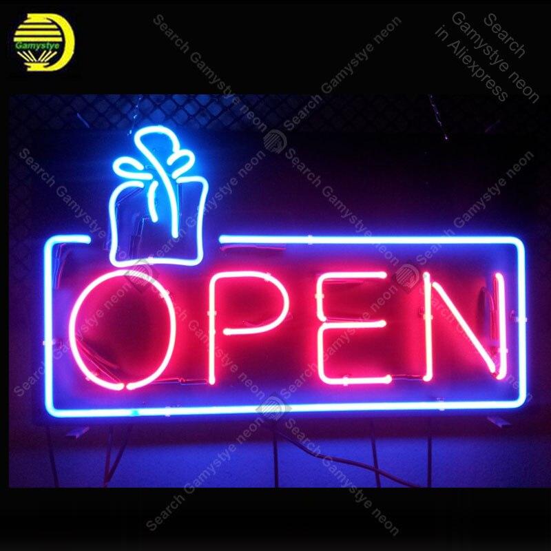 مصباح نيون أنبوب زجاجي ، علامة نيون مفتوحة ، علامة ترفيهية ، متجر ، نادي ، صناعة يدوية ، داخلي ، شعار مخصص 19x12