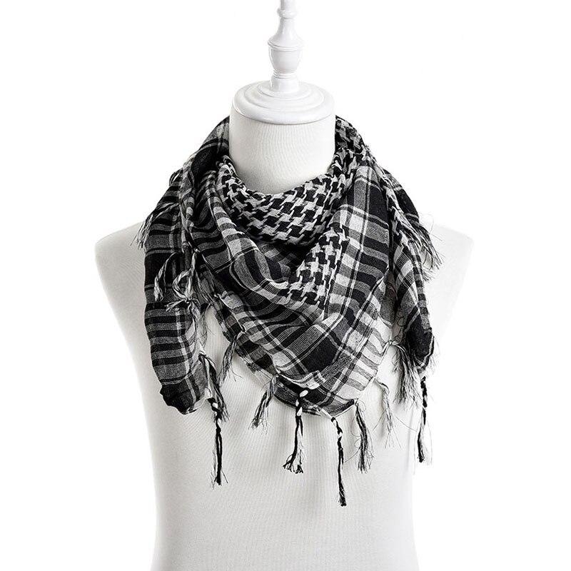 Novo unisex 5 cores dos homens das mulheres xadrez árabe grade pescoço keffiyeh palestina cachecol envoltório venda quente
