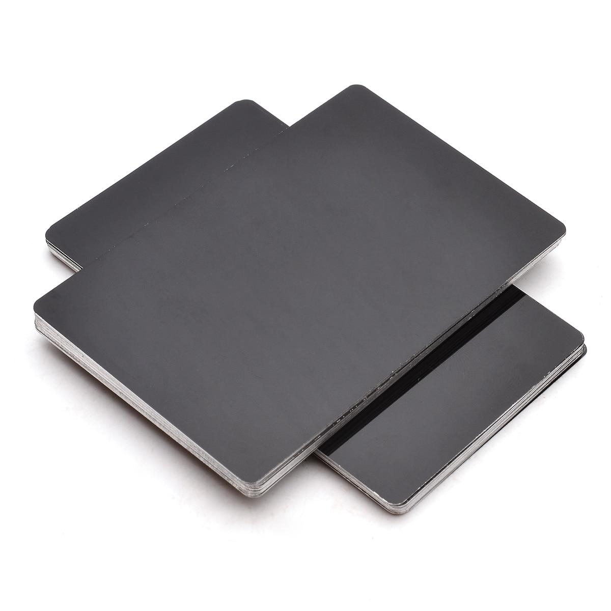 50pcs New Aluminum Alloy Laser Marking Business Card Blank Random Colors 85x54x0.17mm