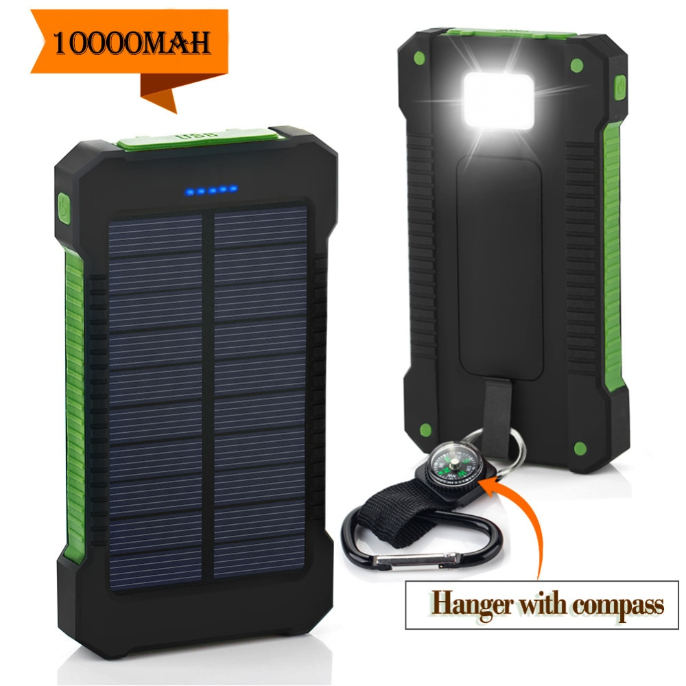 Travel Solar Power Bank 10000mAh Dual USB Solar Battery Portable Charger powerbank For All Phone travel solar power bank 10000mah dual usb solar battery portable charger powerbank for all phone