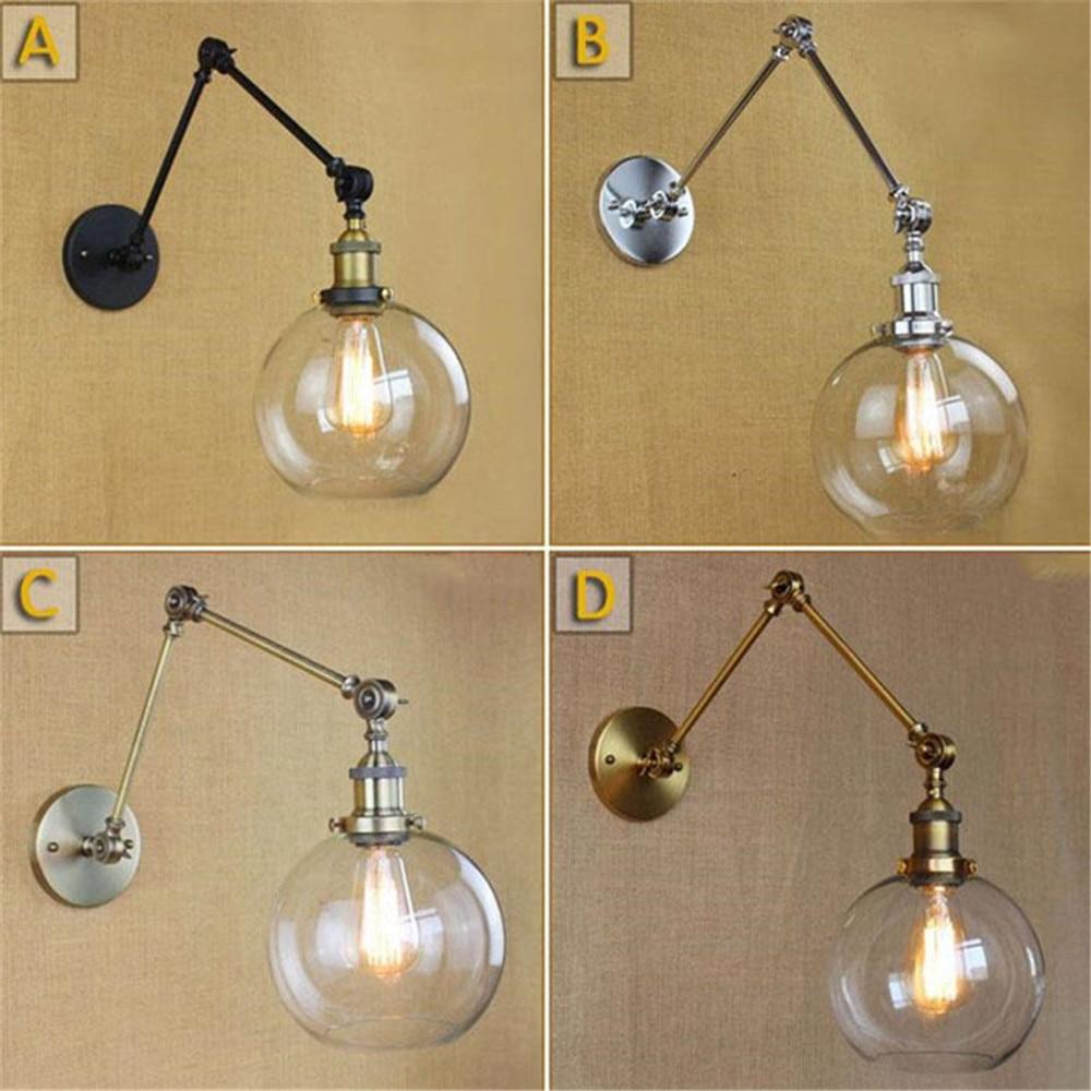 Художественный декор, Скандинавская лампа, настенные светильники, прозрачный шар, стеклянный оттенок, черный хром, Золотая Бронза, Современ...
