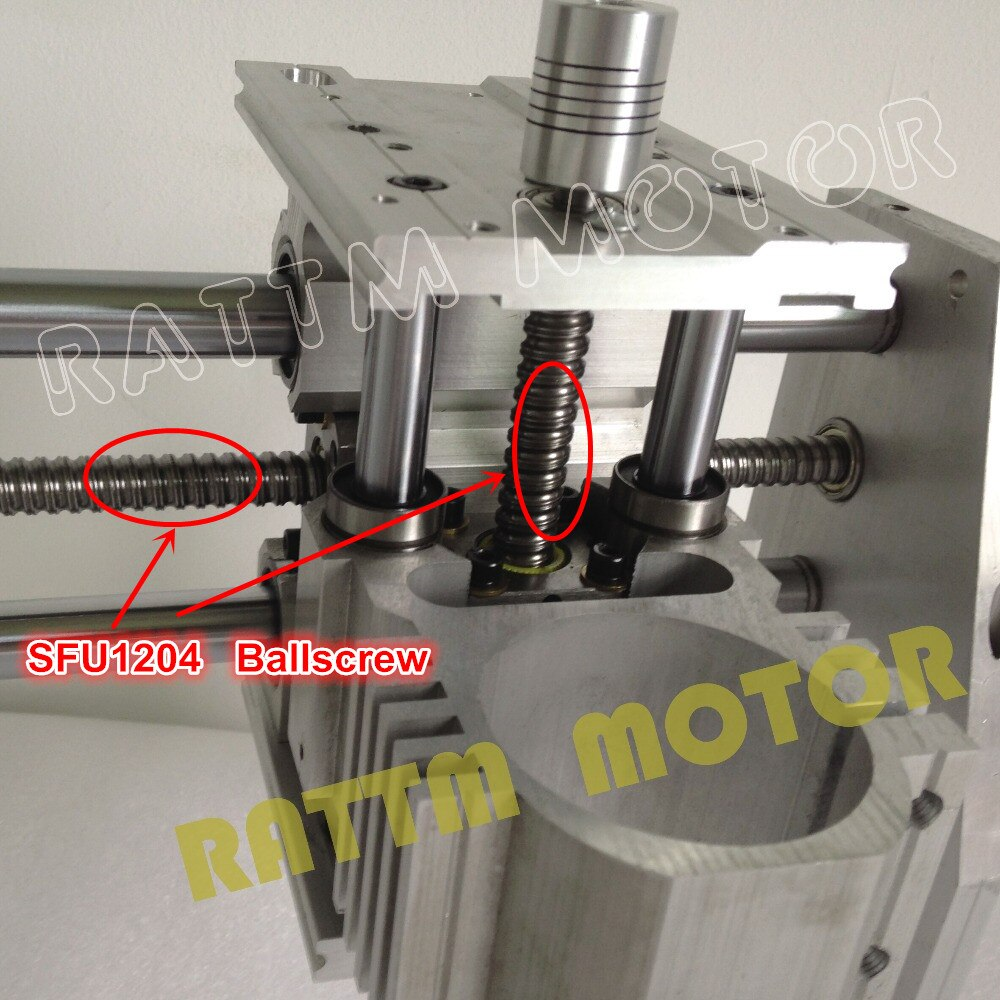 【EU free VAT 】 DIY 3040 CNC Router Engraving Milling Machine Mechanical ball screw kit Frame with 300W DC spindle motor enlarge