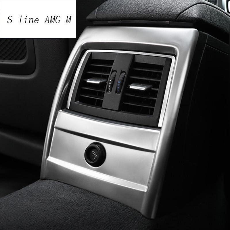 Decoración de coche, ventilación de aire acondicionado trasero, marco decorativo, pegatinas de salida, embellecedor para BMW 3 4 Series 3GT F30 F32 F34, accesorios para automóviles