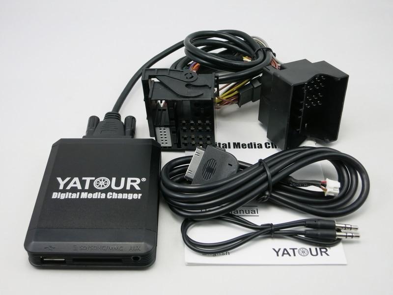 Yatour YTM07 cambiador de CD de música Digital USB SD AUX Bluetooth ipod iphone interfaz para nuevo Ford quadlock Fakra 12 pin adaptador