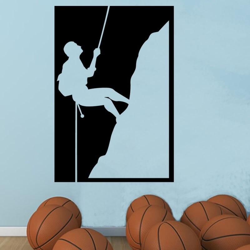 Envío Gratis pegatinas de pared de arte DIY decoración del hogar calcomanías de pared de escalada de roca pegatinas decorativas de sala de estar 3 tamaños