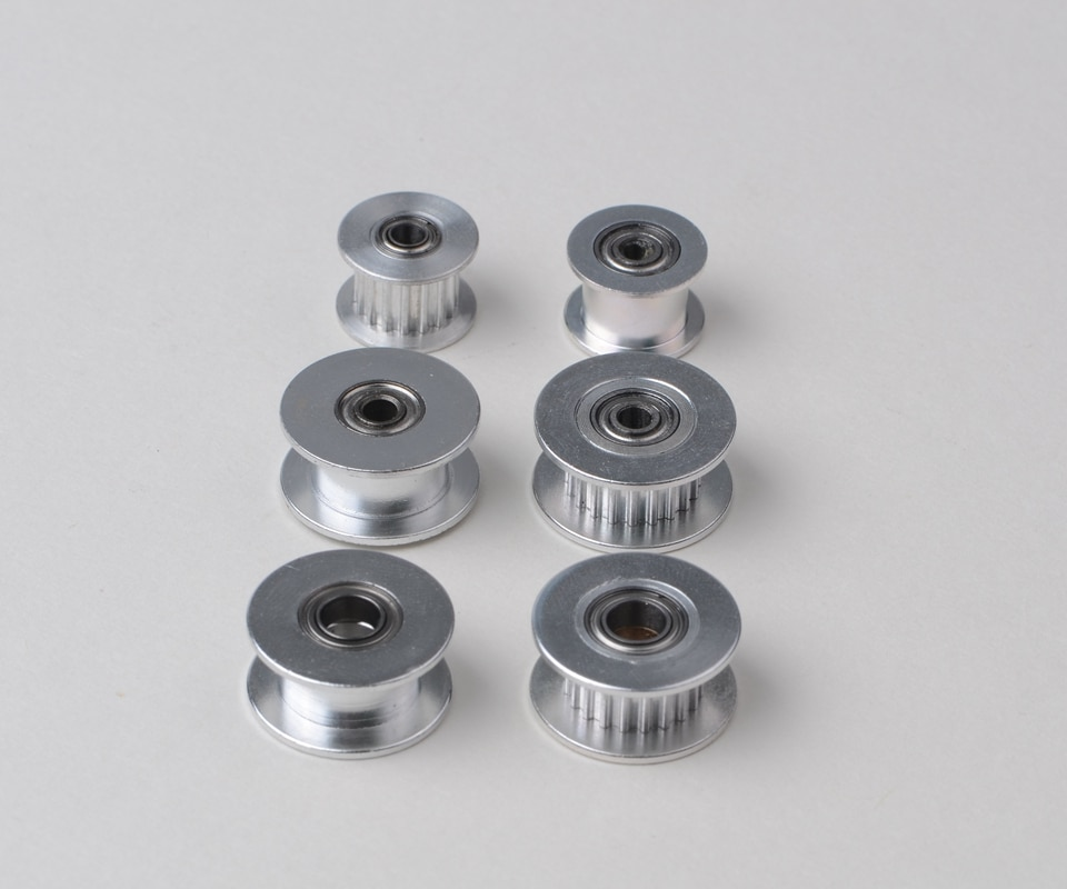 3D Printers accessories GT2 Idler Timing Pulley 16/20 Tooth Wheel Bore 3mm 4mm 5mm Aluminium Gear Teeth for 6mm timing belt