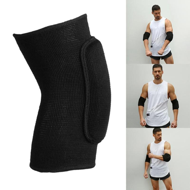 1pair Elastic Elbow Knee Support Sports Knitted Sponge Protectors Elbow Pad Sports Protective Gear S