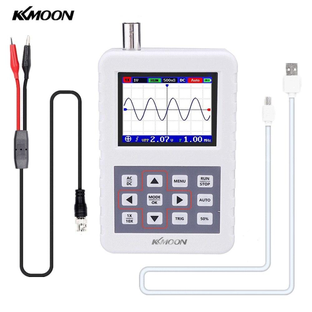Oscilloscope portatif KKmoon DSO avec sonde doscilloscope P6100 bande passante de 5M taux déchantillonnage de 20 MS/s Mini Oscilloscope de paume
