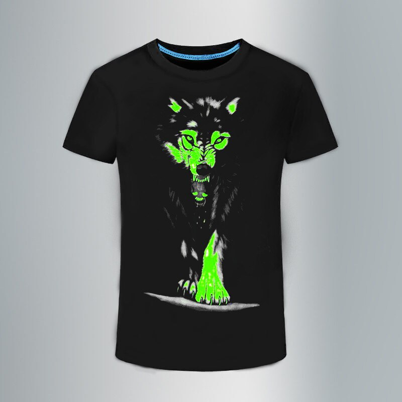 Novo verão novo 3d t-camisa masculina lazer fluorescente personalizado manga curta luminosa camiseta topos masculino 3xl roupas