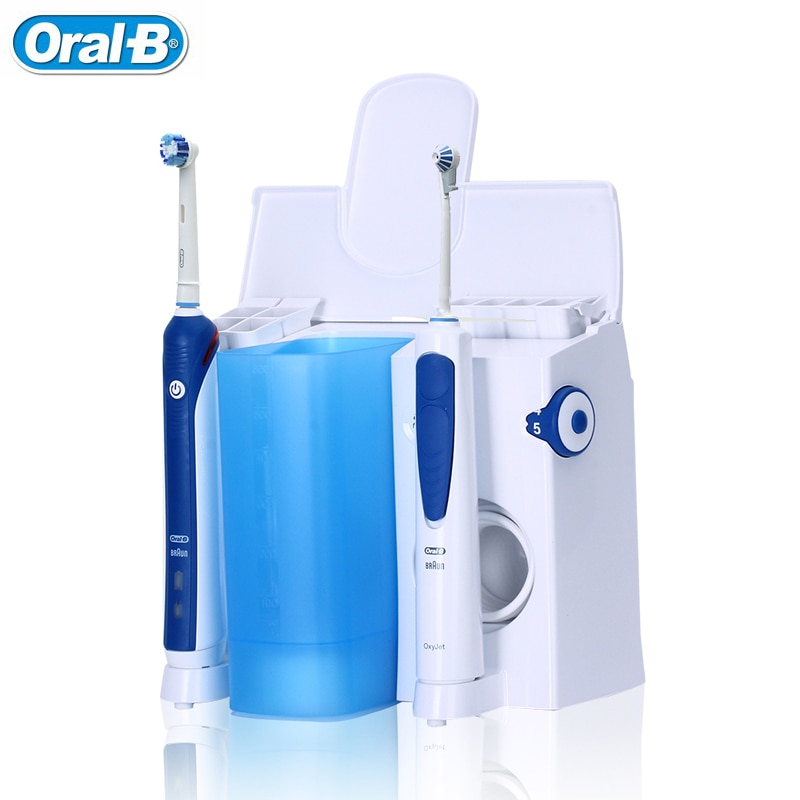 Oral B Irrigator Electric Toothbrush Family Oral Care Center 7+4 heads Plaque Remove Gume Care Dental Water Flosser Teeth White enlarge
