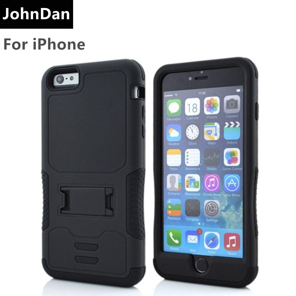 Para apple iphone 8 7 6s pc + silicone militar resistente anti impacto caso armadura para iphone 6s 8 7 capa de corpo inteiro
