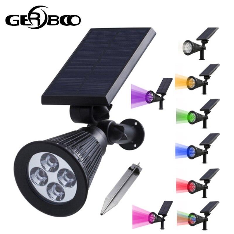4 Led luz Solar para decoración de jardín camino al aire libre impermeable LED luces de césped con energía Solar calle paisaje lámpara de patio