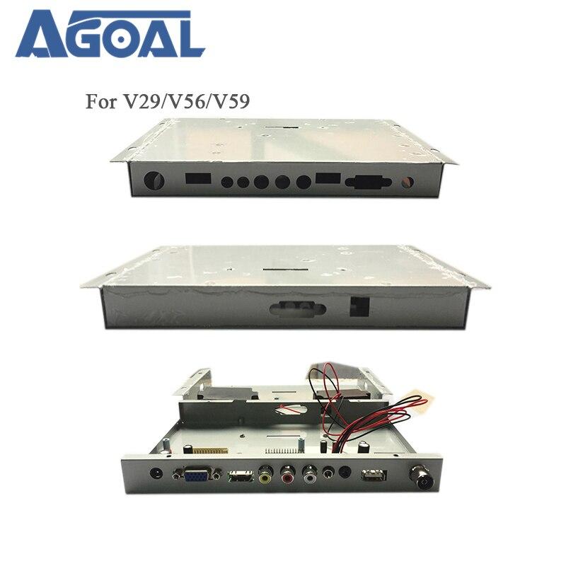 V29 V56 V59 DJ2 ТВ плата водителя дефлектор железный металлический корпус защитный чехол DIY Панель ТВ LED ЖК