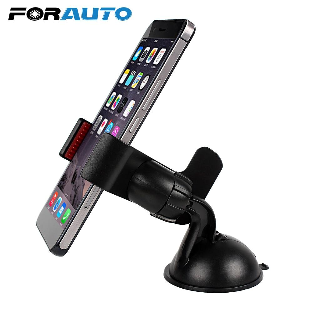Soporte Universal para automóvil soporte de teléfono para salpicadero o parabrisas de automóvil soporte giratorio de 360 grados soporte de teléfono para coche accesorios