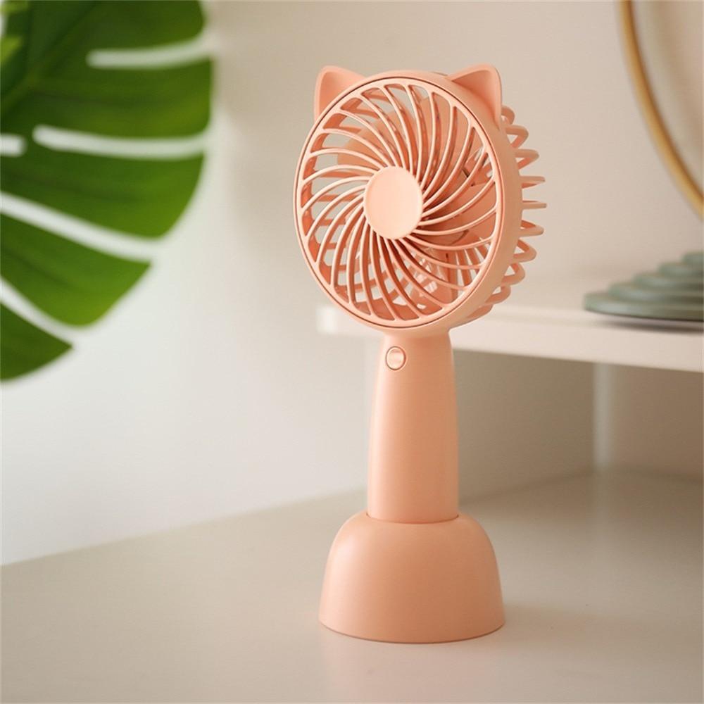 Aire acondicionado para el hogar, Aire libre, Mini ventilador de mano de dibujos animados portátil silencioso, gran capacidad, bonito ventilador pequeño, aire acondicionado de viento