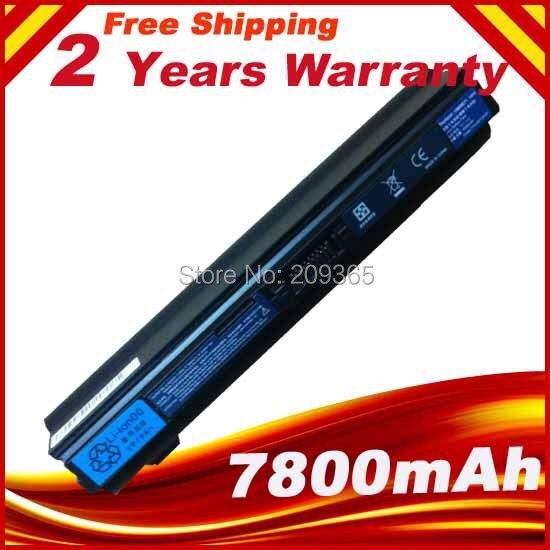 Аккумулятор для ноутбука UM09E31 UM09E32 UM09E71 UM09E36, 7800 мАч, для Acer Aspire 1410 1810T 1810TZ, черный