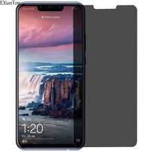 EXUNTON 9H Vetro Per Huawei Nova 3 3i 3E Più Lite Nova3 Nova3i Nova3E Anti-spy Privacy Temperato pellicola Della Protezione Dello Schermo di vetro Nuovo