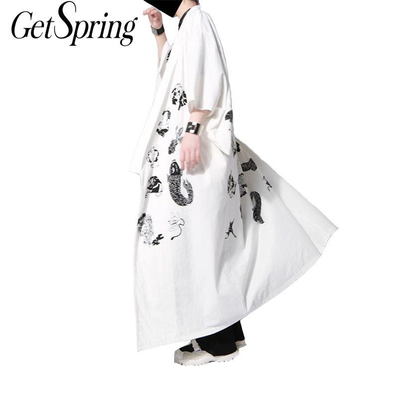 2017 الربيع و الصيف المد العلامة التجارية اليابانية أسلوب و الرياح الطباعة فضفاض رداء معطف الرجال والنساء مع نفس الفقرة 2 اللون