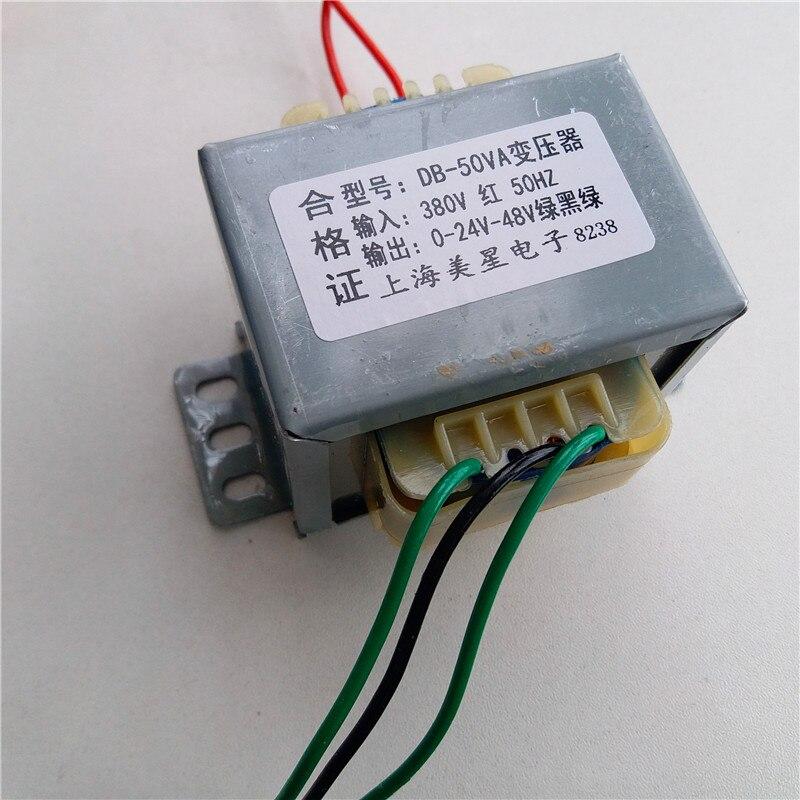 Transformador 0-24V-48V 1A 50VA 380V entrada EI66 transformador bolsa de pulso filtro sin contacto controlador interruptor transformador