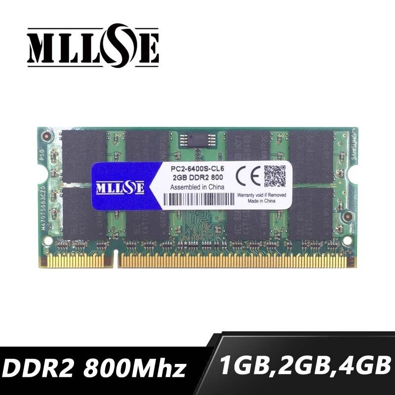 Portátil de mllse 1gb 2gb 4gb ddr2 800 pc2-6400 sdram, portátil de ddr2 800mhz 2gb pc2-6400s sodimm, memória ram ddr2 2gb 2g 800 so-dimm
