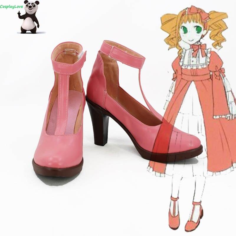 Black Butler Elizabeth Pink Cosplay zapatos Botas Largas tacón alto personalizado CosplayLove