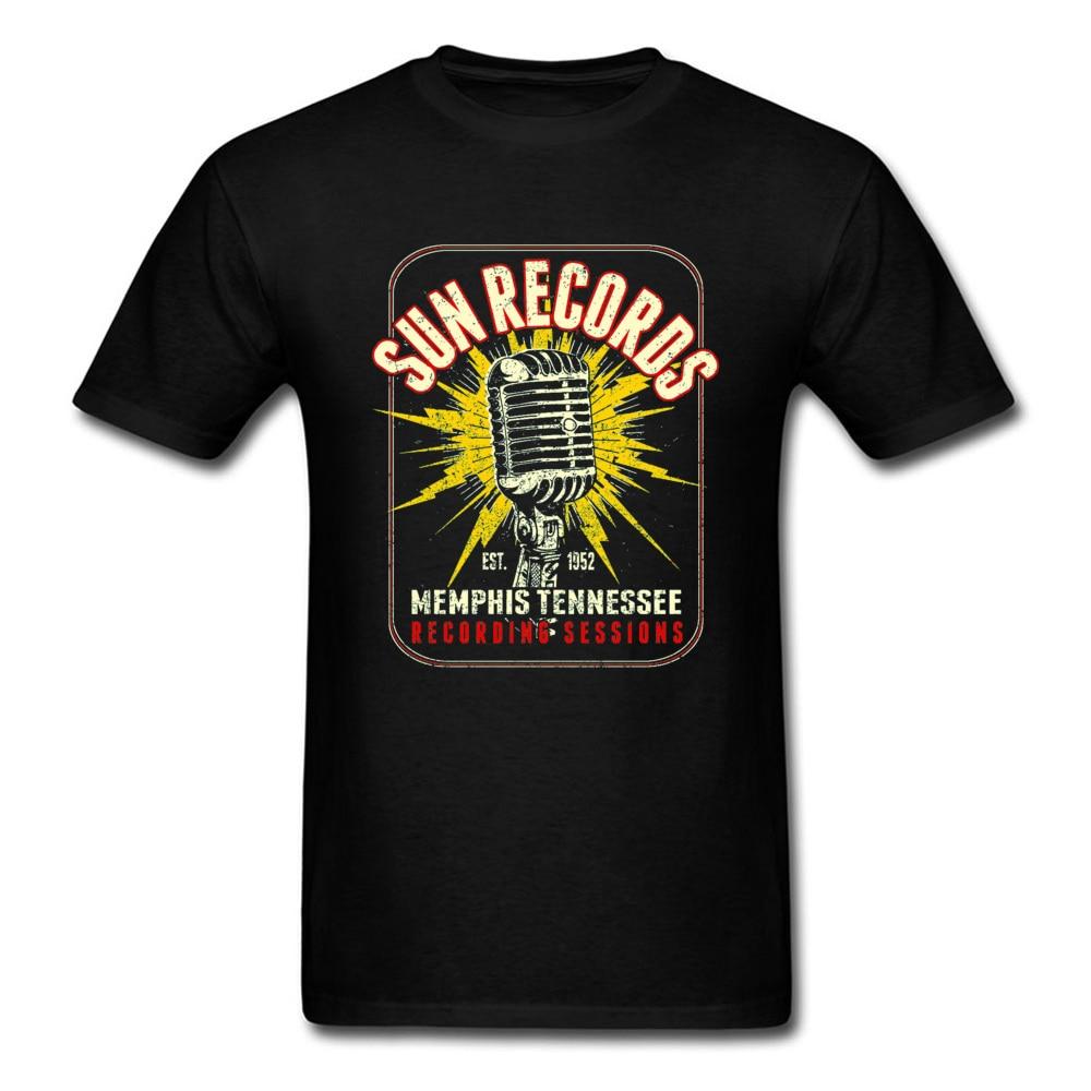 Camiseta Retro de alta calidad con micrófono Rock para hombre para el Día de San Valentín Camiseta de cuello redondo para hombre 100% camisetas de algodón
