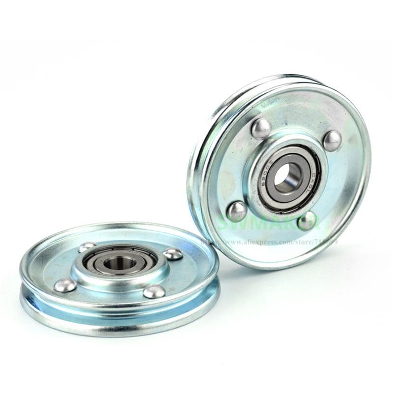 Swmaker 1 pces u 10*66*11mm 66mm porta do elevador metal pendurado roda, ranhura v u rolo, roda de corda de fio, 6200 rolamento
