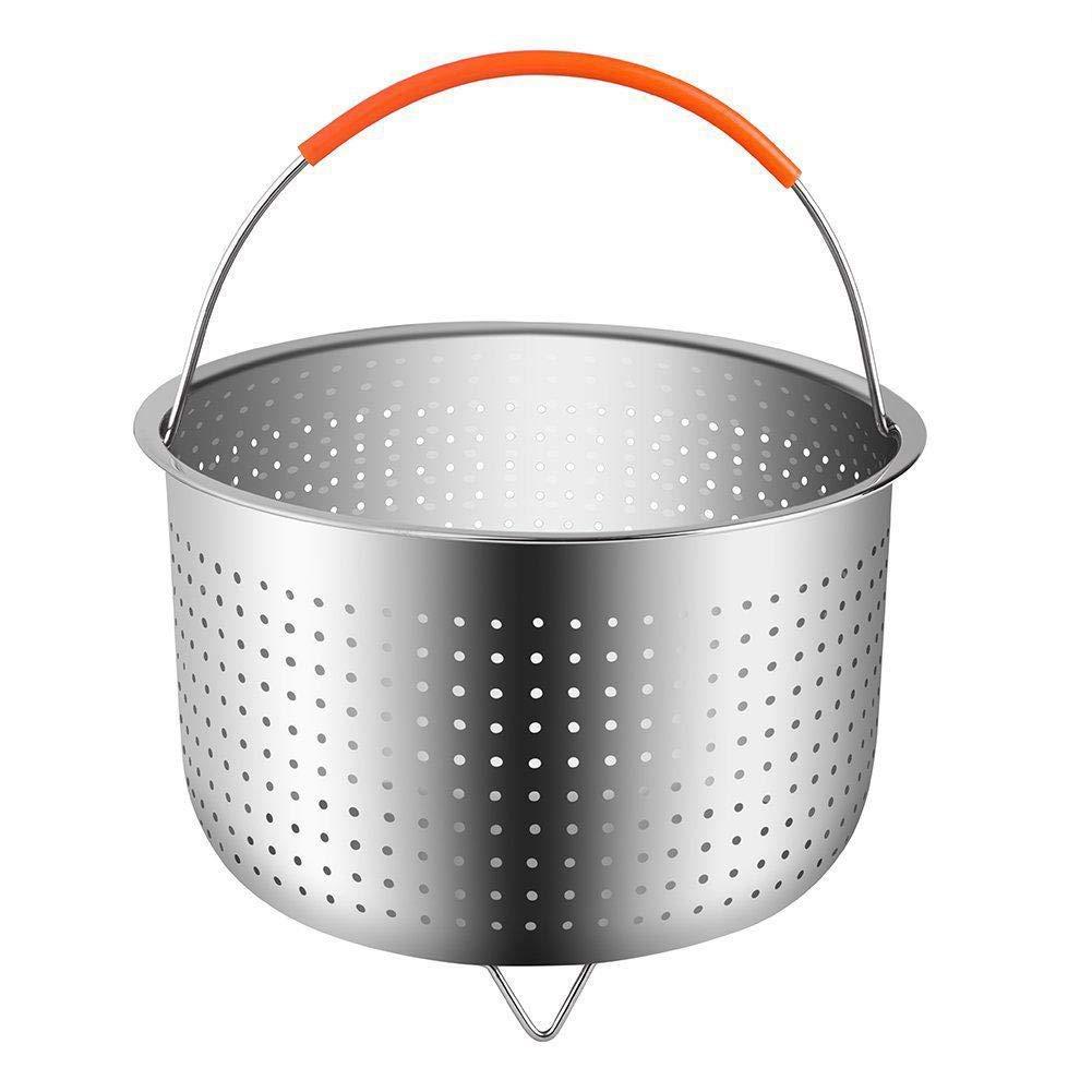 Оригинальная крепкая корзина для пароварки 6 Quart, кухонная плита с силиконовой ручкой