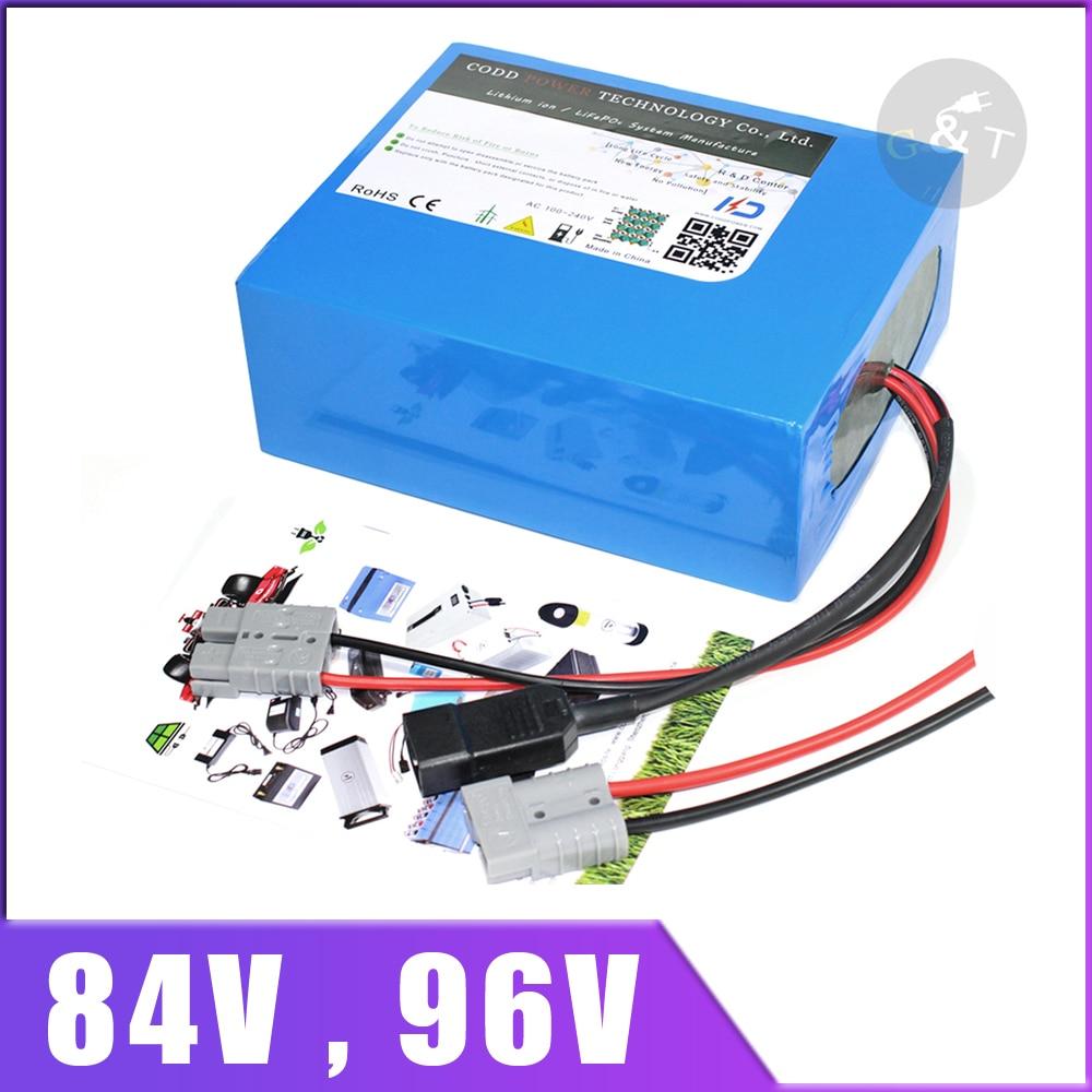 84V 96V 20AH 40AH batería de iones de litio para 1000W 2000W 3000W 4000W bicicleta eléctrica scooter Ebike