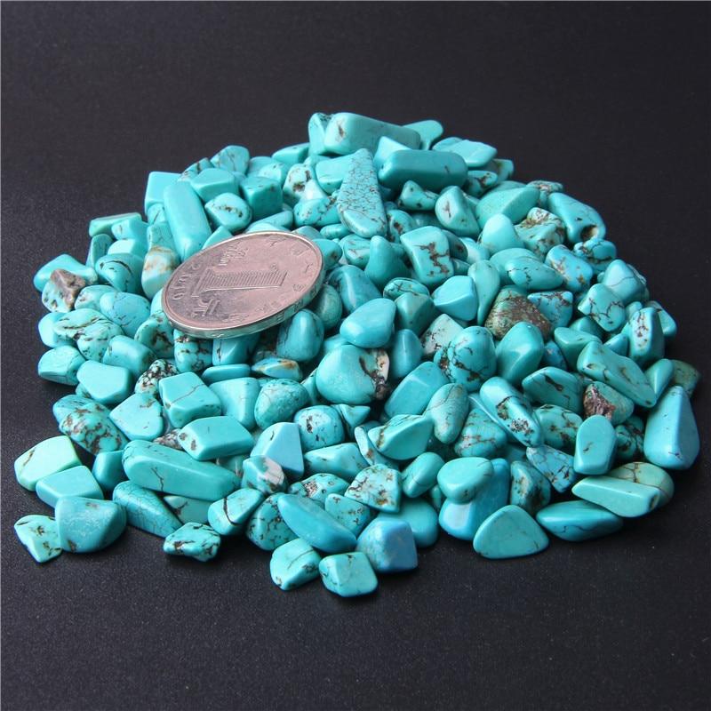20 г 50 г натуральный голубой бирюзовый зубная палочка Кристальные натуральные камни гравия бусины Мини каменные щепы с лечебным действием, образцы 7-9 мм бисера