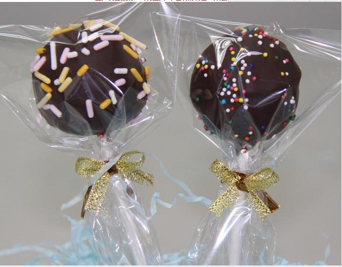 200 unids/lote 8x12 cm bolsas de plástico transparentes básicas para galletas Paquete de hornear bolsas Pop piruletas regalo de panadería de embalaje de galletas
