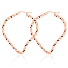 Nouveau Design distorsion géométrique en acier inoxydable boucles doreilles pour femmes Punk Hip Hop oreille bijoux cadeaux danniversaire