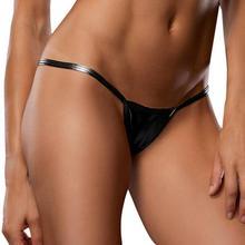 Women Free Size Waist 58-74cm Sexy Bare Underwear Imitation Leather Underpants Lingerie Lady Bikini Thongs Dropship goods #2