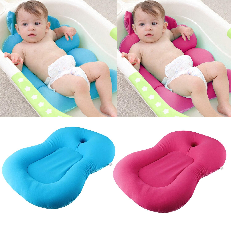 Flutuante Anti-Slip Banho Do Bebê Tapete Infantil Chuveiro Banheira Almofada Esponja Almofada de Segurança Apoio Assento de Banho Do Bebê Crianças cuidados de banho