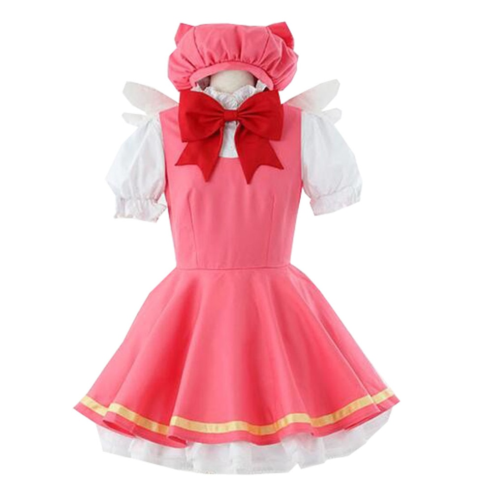2017 Sakura Cardcaptor Cosplay niñas Rosa Kinomoto disfraces de uniforme de lucha