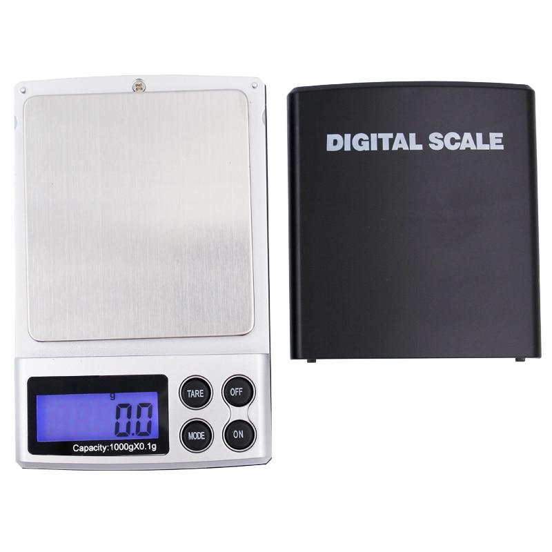 0,1g 1000g 1 KG Mini pantalla LCD Digital de bolsillo de joyería con luz de fondo balanza portátil electrónica con caja de venta al por menor 20%