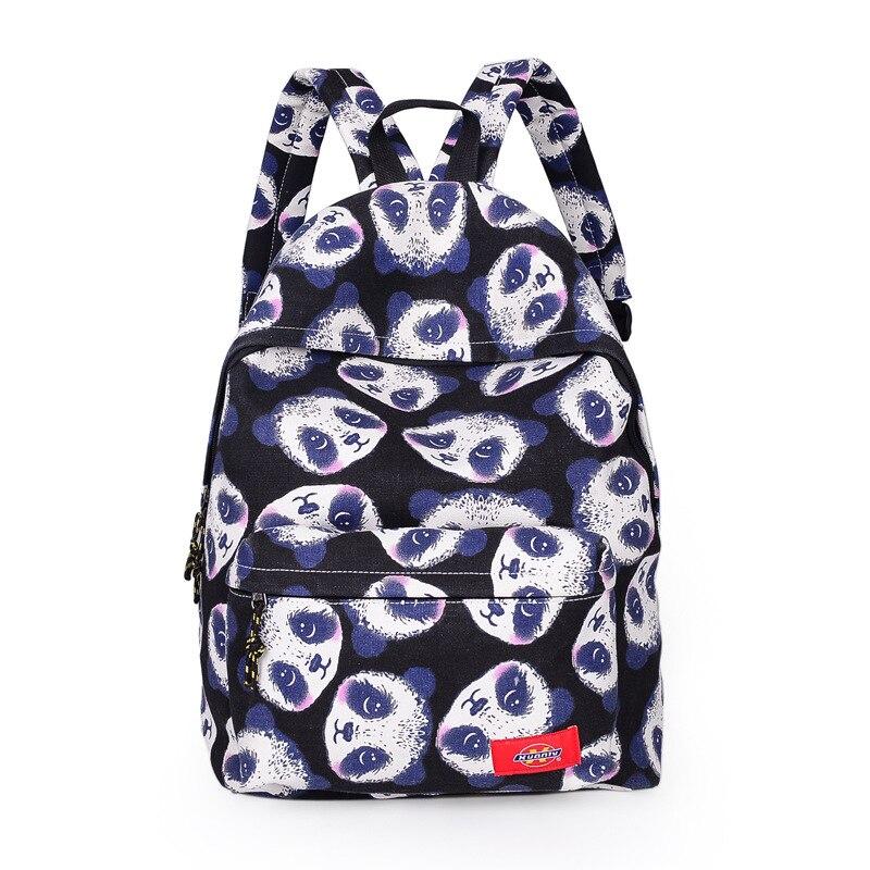 New Women Panda Backpack School bag for girl Printing panda Backpack BookBag mochila feminina
