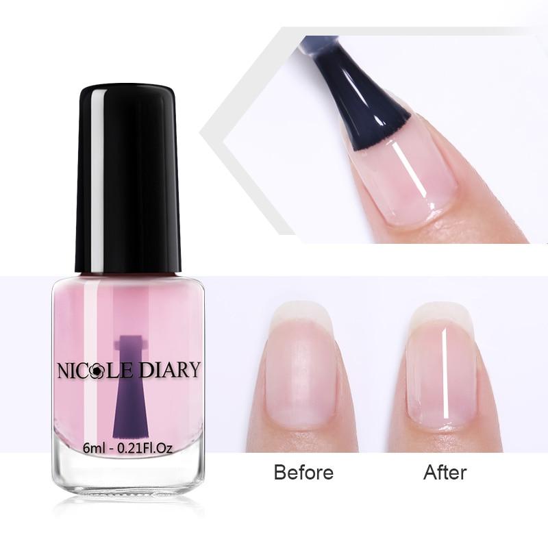 NICOLE DIARY 6ml Peel Off Calcium Base Coat Nail Polish Odorless Nutritious Water-based Nail Art varnish  Tool