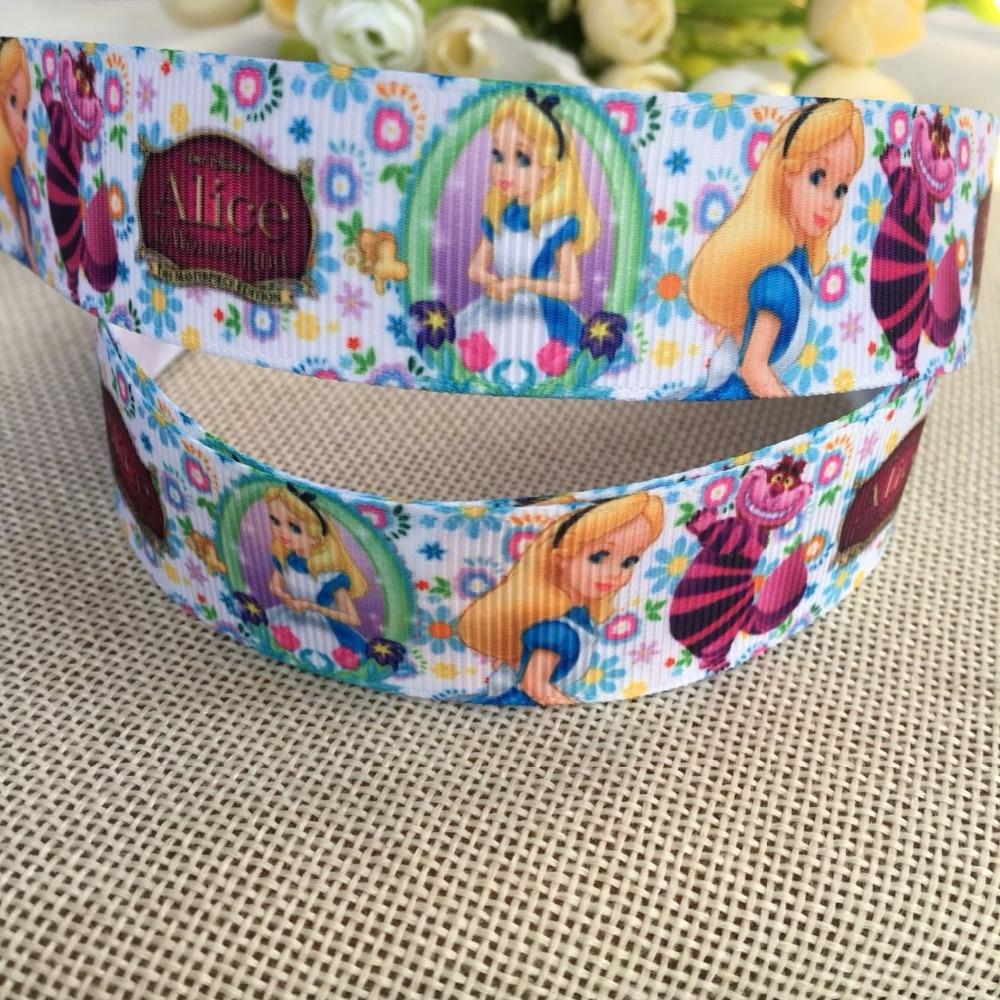 1'' (25mm) New 5 yards cartoon printed grosgrain ribbons princess ribbon diy handmade accessorie  free shipping 96566