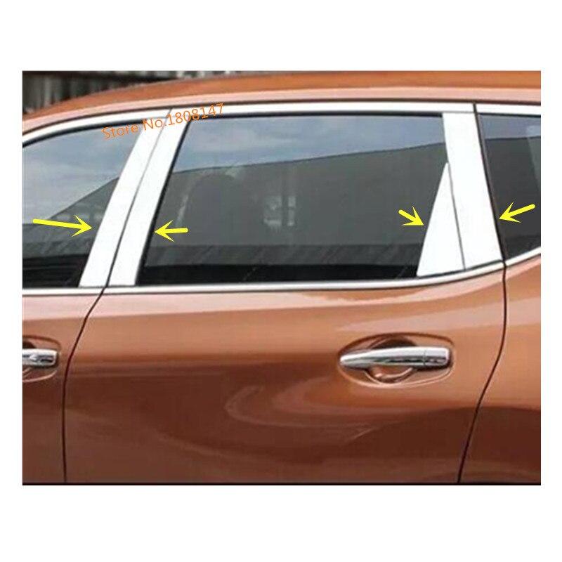 Ventana de vidrio de acero inoxidable para coche, adorno de columna media Pilar, tira embellecedora de 6 uds para Nissan x-trail xtrail T32/Rogue 2014 2015 2016