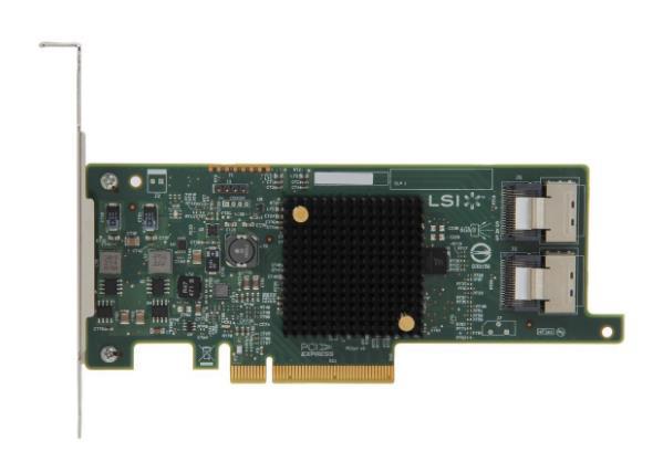 9217-8i LSI SAS2308 8-Puerto SAS de 6 Gb/s + SATA PCI Express 3,0 adaptador de Bus Host SAS Cable no incluido