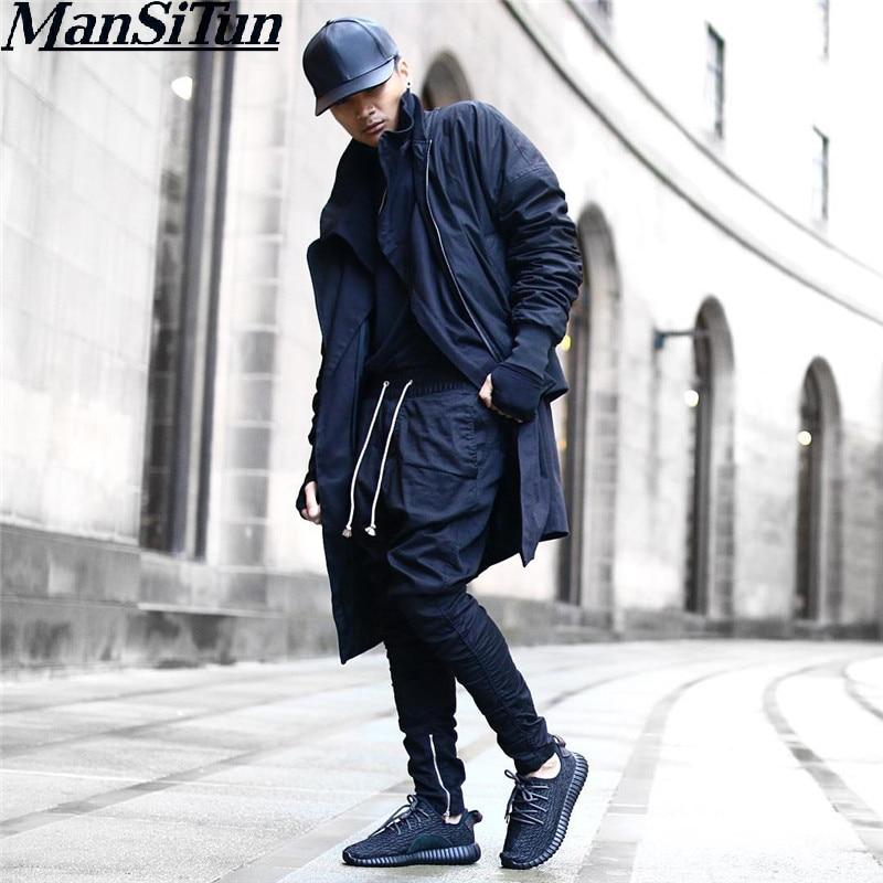 Hombre Si Tun cremallera lateral Justin Bieber estilo hombres Skinny Casual chándal de hip hop para hombre de pantalones Swag pantalones de chándal pantalones Pantalon
