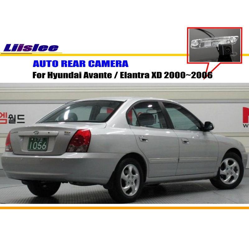 Cámara trasera para coche Liislee para Hyundai Avante/Elantra XD 2000 ~ 2006/cámara trasera de estacionamiento/lámpara de placa de matrícula OEM