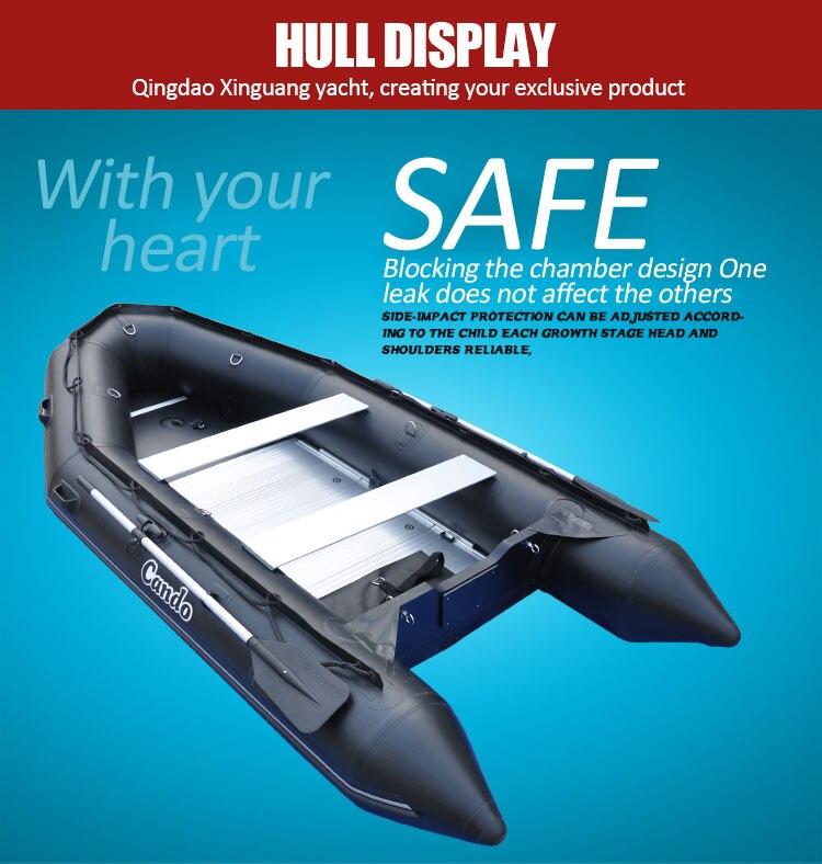Bote inflable para pesca de 0,9 MM de grosor, Kayak de goma 2 a 8, bote de remos Pearson para playa, barco Kayak de agua poco profundo