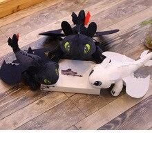 핫 스타일 25cm 귀하의 용을 훈련하는 방법 3 플러시 장난감 이빨없는 빛의 분노 애니메이션 그림 밤의 분노 드래곤 플러시 인형 장난감 어린이
