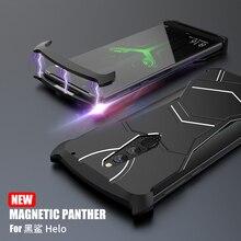 Pour Xiaomi Noir Requin Helo Cas R-JUST Panthère Magnétique En Aluminium En Métal Pour Xiaomi Blackshark Helo Cas Antichoc Coque