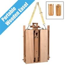 Tragbare Falten Durable Französisch Staffelei Holz Skizze Box Künstler Maler Stativ Malerei Liefert Staffeleien